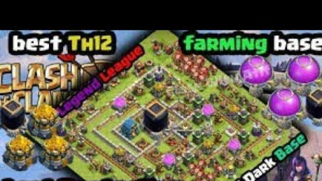 CLASH OF CLANS! NEW TH 12 FARMING BASE! 2019 MAY