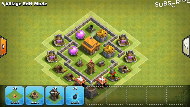 Clash Of Clans Best Town Hall 3 TH3 Base Design!!