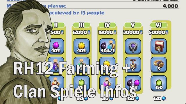 RATHAUS 12 FARMING UND CLAN SPIELE INFO ! - CLASH OF CLANS