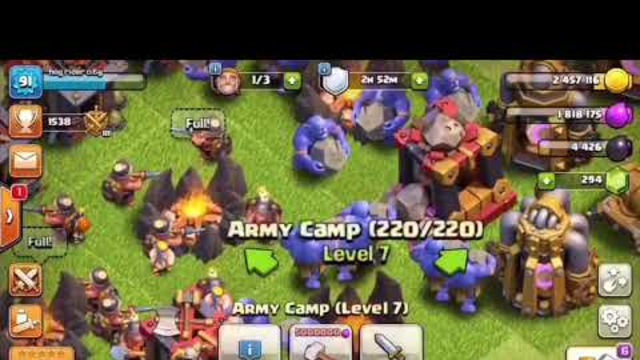 Clash of clans (raid for trophies ) S1 E1