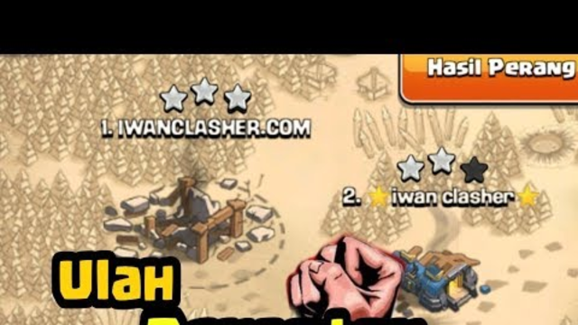 Battel WAR Sama Penonton Malah Base Andalanku Rata Asem, Strategy WAR COC INDONESIA