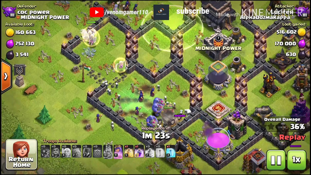 Clash of Clans new attack strategy | 3 star attack | th9 witch bowler golem wizard