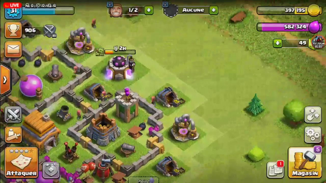 live clash of clans