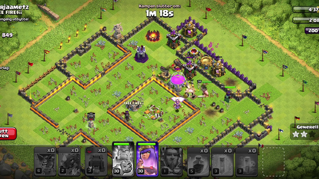 Clash of clans th11 max 3 stars with electro dragons