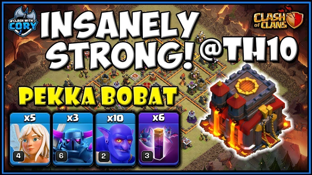 OMG this TH10 ATTACK IS STRONG! Pekka BoBat demolishes town hall 10s | CLASH OF CLANS | STRATEGY