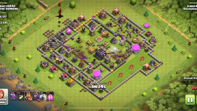 Clash of Clans TH 9 Mass Drag Attack