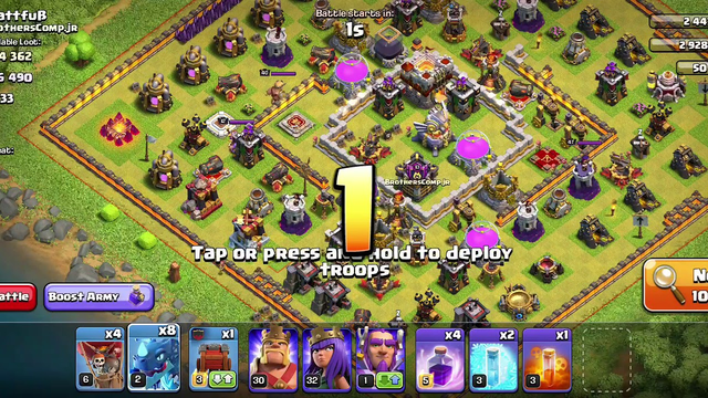Clash of clans 2star 91% damage on th11