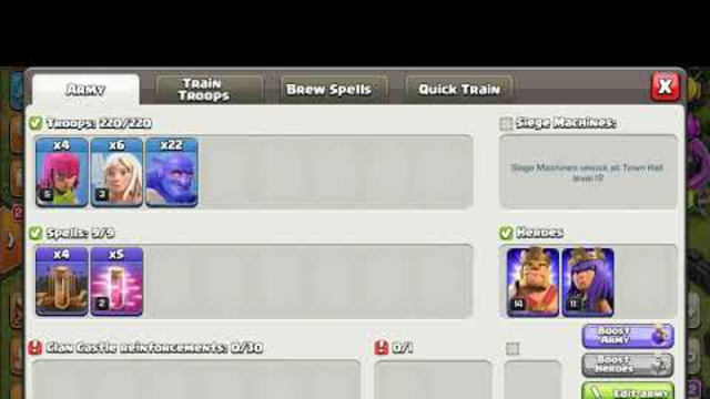 Bowler with 6 healers coc atck how many percent can we get