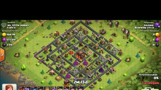 Clash of Clans - Farming with Baloons Minions 3 star TH 10