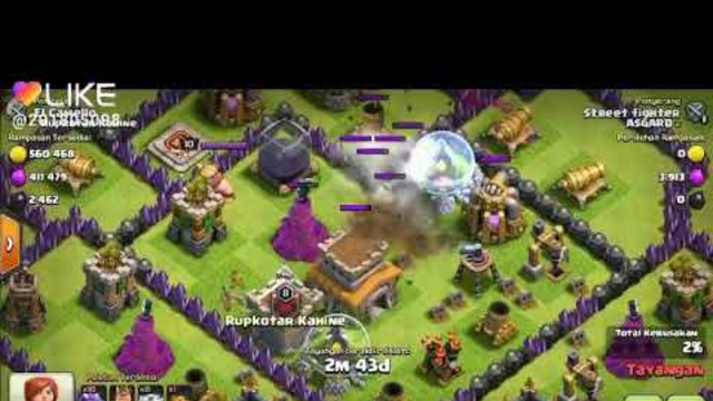 BELAJAR NAGA TH 8 - DRAGON Di WAR BASE - Clash of Clans INDONESIA
