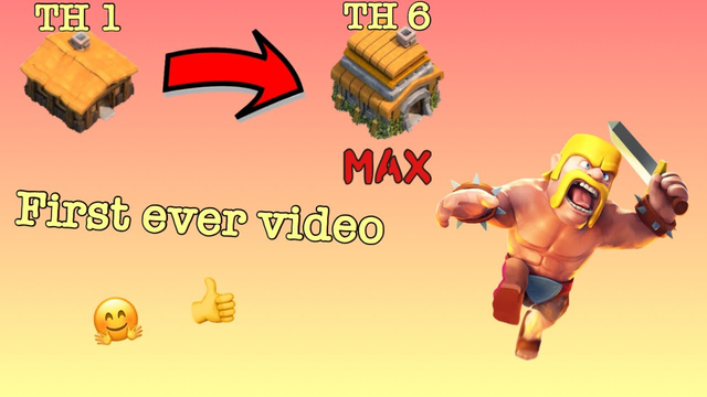 Clash of Clans - TH1 to TH6 MAX in 6 Minutes - First Real Video