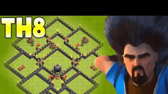 Clash of clans - Town Hall 8 (TH8) New 2016 Hybrid / Farming Base 2016