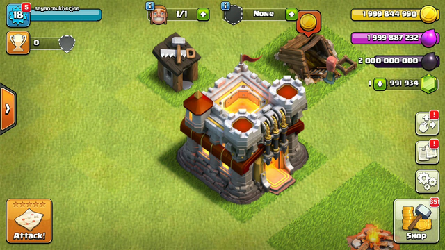 Clash of Clans upgrading TH1-TH11 in just 5 minutes