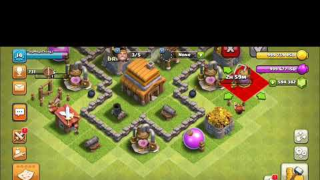 Clash of clans town hall 1 to 12 (game play)