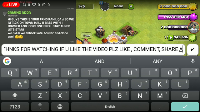 CLASH OF CLANS LIVE ATTACK   WITH 1 MAX DRAGON AND 50 CLONE SPELLS   RSZ QAZI  