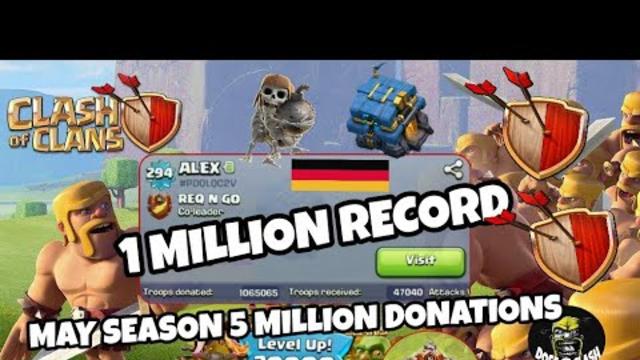 SEASON MAY | 1 MILLION CLUB | WORLD RECORD #10 | CLASH OF CLANS