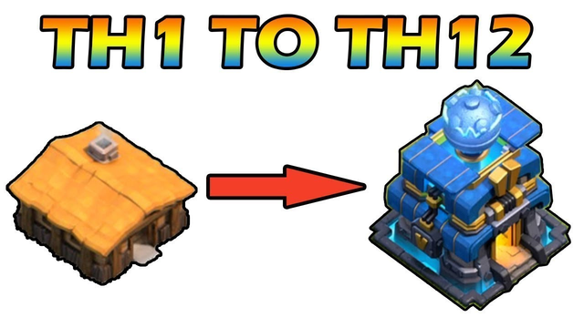 VIDEO TIME LAPSE | TH 1 TO TH 12 | clash of clans |