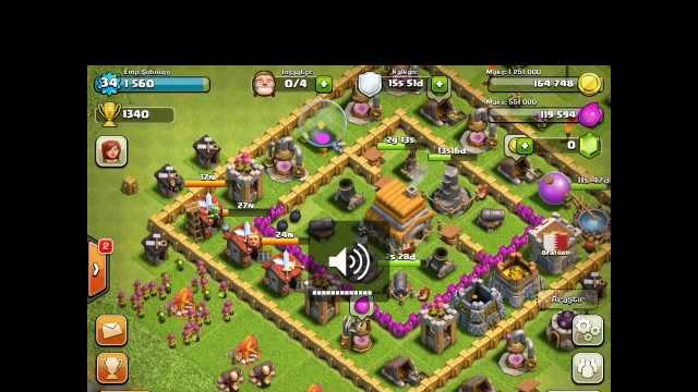Clash Of Clans Defence 3 Star Lost (2 P.E.K.K.A 1 Dragon & Archers)