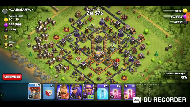 clash of clans live game play