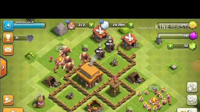 Playing clash of clans for the first time!!