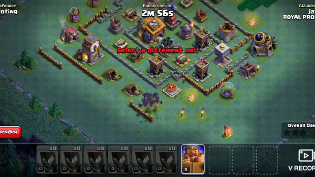 Clash of clans builder base attack with witch V2
