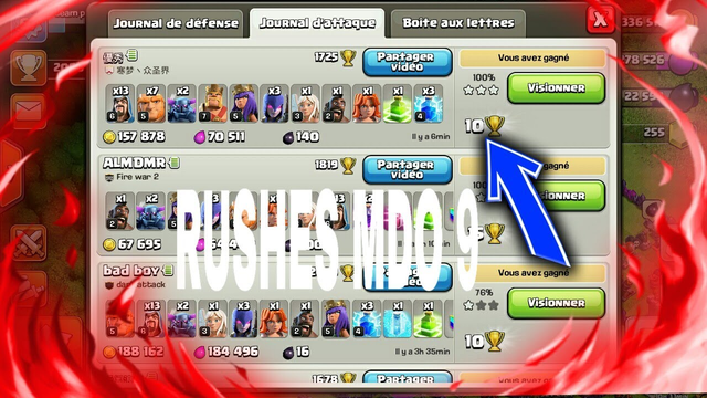 Compo rushes MDO 9 coc (clash of clan)