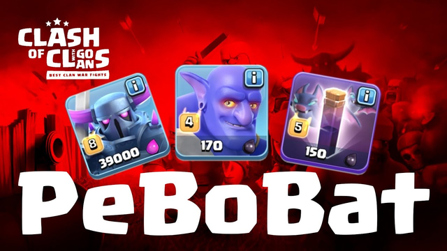 PEKKA BoBat | TH 12 | Pekka + Bowler + Bat Spell | 3 Star CW Attack | ground strike | COC 6/19 Clash
