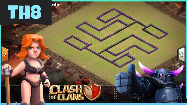 OG TH8 WAR BASE 2019- Clash of Clans