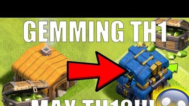 Clash Of Clans town hall 1 to 12 in 3 minutes time lapse 2019