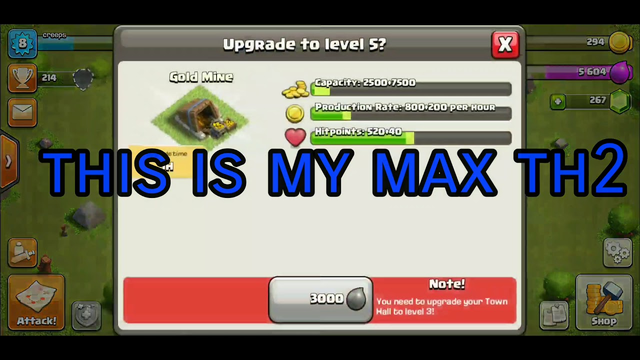 Clash of Clans | Maxed TH2
