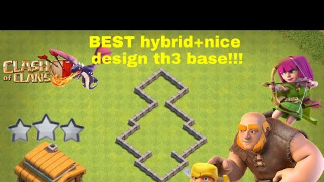 BEST hybrid+nice design th3 Base!!!Clash of Clans -Foref CoC