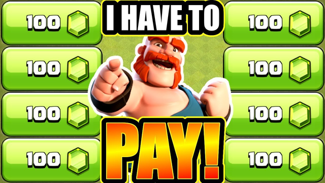 I Had To PAY 800 GEMS To Do This In Clash Of Clans!!