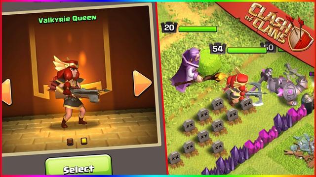 We Unlocked The Valkyrie Queen Archer Queen SKIN In Clash of Clans