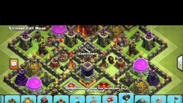 COC farming and anti 2 star base *NEW 2019 BASE JULY* with replays