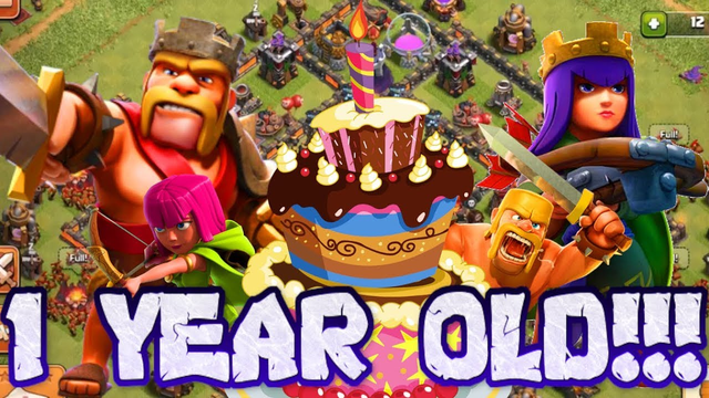 IT'S OUR FIRST BIRTHDAY!!! TOWN HALL 10 GOBLIN FARMING!!! - CLASH OF CLANS