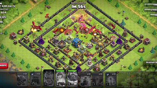 Coc max dragon and lightning