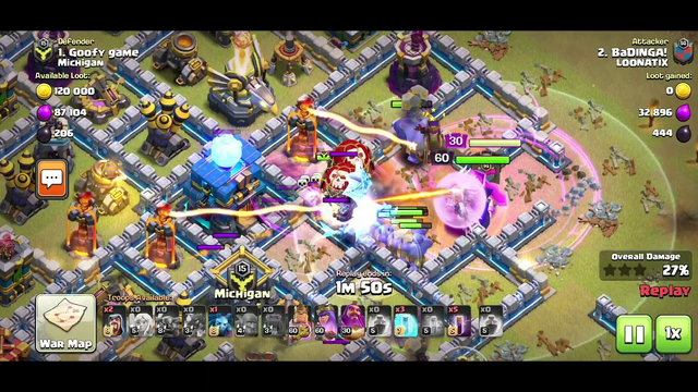 CLASH OF CLANS|LOONATIX WAR 3 STAR ATTACKS 2019