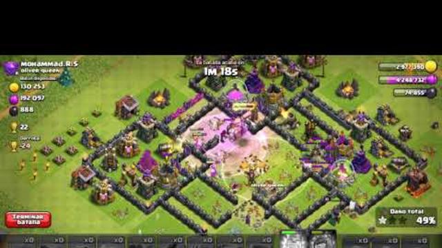 Ataque a th9 Clash of clans