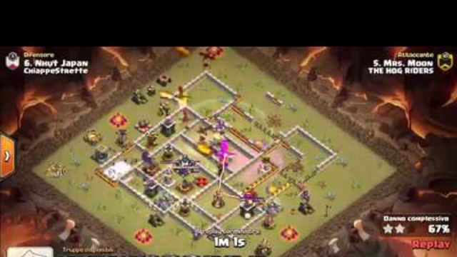 COC SUPER 3 STARS TH11 WAR ATTACK DRAGOLOONBAT - THANKS TO MRSMOON FROM CLAN THE HOG RIDERS