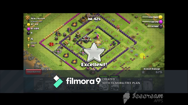 Clash Of Clans/My 100% Attack on a TH 9 Rusher