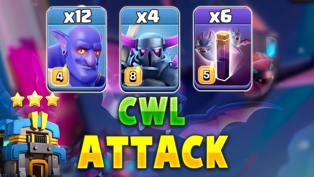 New TH12 Strategy 2019! 4 Pekka +6 Bat Spell +12 Bowler Destroy 3Star Max TH12 Base | Clash Of Clans