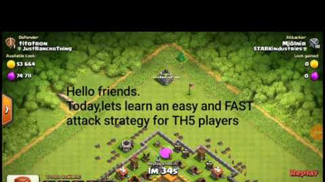 Clash of Clans/Th5/Fast & 3 star attack strategy