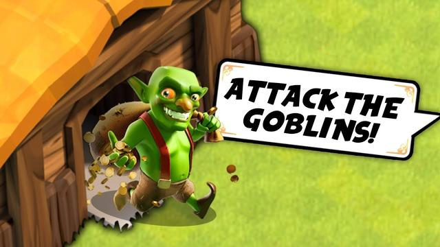 Destroying Goblin Villages! - Clash of Clans #1