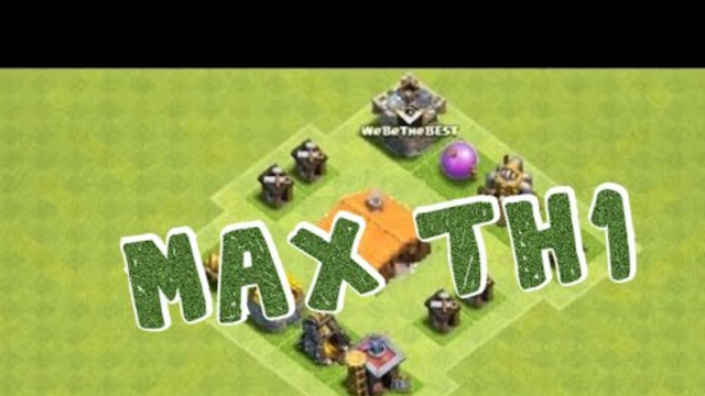 Clash Of Clans | MAX TOWNHALL 1 BASE! (Impossible)