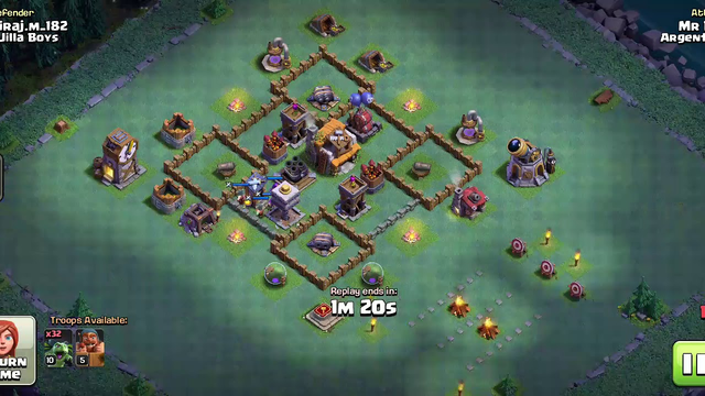 Clash  of clans [Defenser on th5 Bess (night mod)]