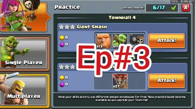 PRACTICE MODE EP#3 | CLASH OF CLANS(HINDI)