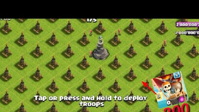 Clash Of Clan 500 Air defense Vs 300 Balloon.COC Private Server