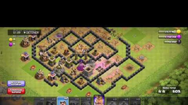 Ataque Ayuntamiento Nivel 8 -Clash Of Clans