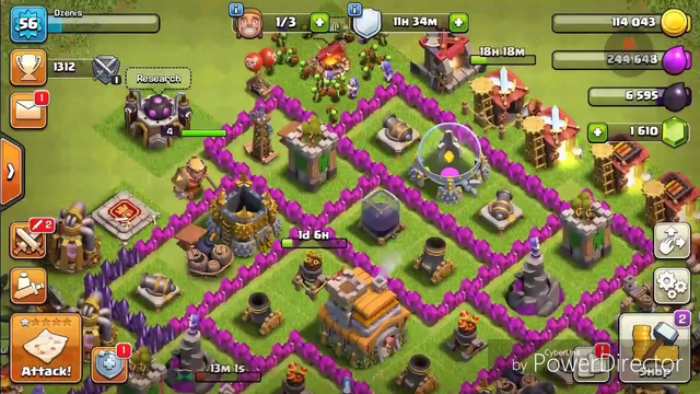 Da vam pokazem bazu coc clash of clans th base lvl 7
