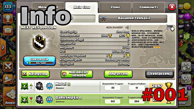 "Clash of Clans ""Info"" #001 German HD"
